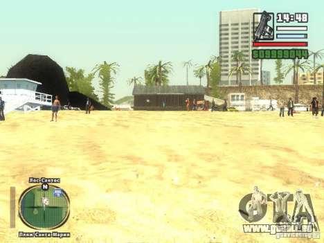 Nouvelle plage bar Vérone pour GTA San Andreas troisième écran