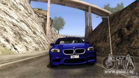 BMW M5 F10 2012 pour GTA San Andreas vue de dessous