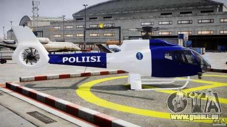 Eurocopter EC 130 Finnish Police pour GTA 4 est une vue de l'intérieur
