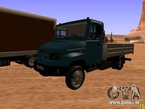 ZIL 5301 Goby für GTA San Andreas obere Ansicht