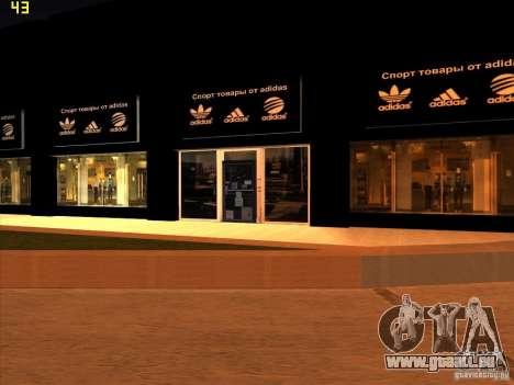 Remplacement complet du magasin Binco Adidas pour GTA San Andreas troisième écran