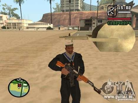 Sailor pour GTA San Andreas troisième écran