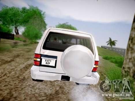 Mitsubishi Pajero pour GTA San Andreas vue de droite