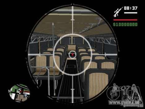 Ikarus 630 pour GTA San Andreas vue arrière