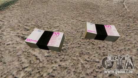 Billets en euros pour GTA 4 secondes d'écran