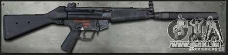 MP5A4 Silenced pour GTA San Andreas