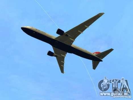 Boeing 767-300 British Airways pour GTA San Andreas vue arrière