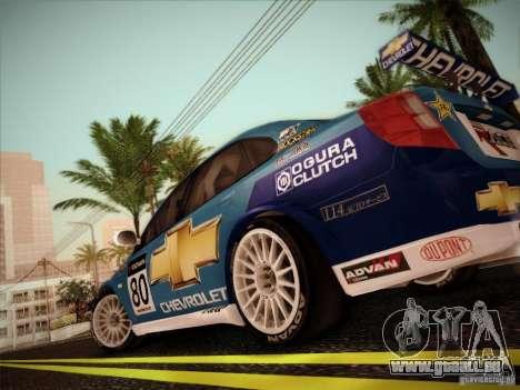 Chevrolet Lacetti WTCC v2 pour GTA San Andreas vue de droite