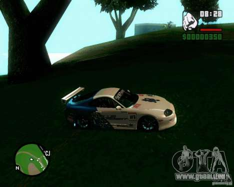 Toyota Supra for B-Day für GTA San Andreas zurück linke Ansicht