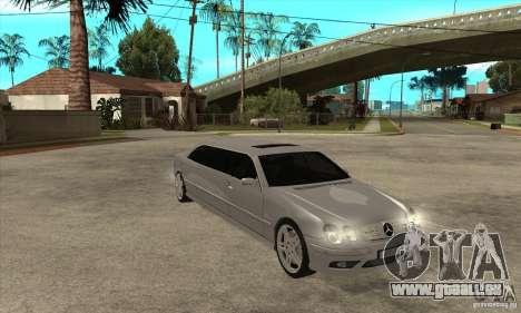 Mercedes-Benz CL65 Limusine pour GTA San Andreas vue arrière