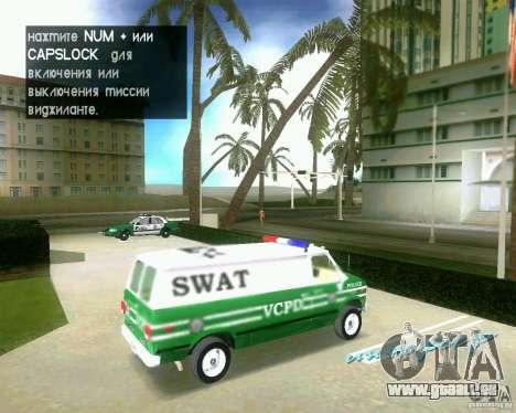 Chevrolet Van G20 pour une vue GTA Vice City de la droite