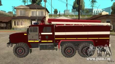Ural pompier 43206 pour GTA San Andreas laissé vue