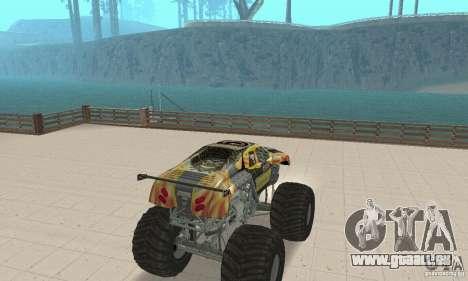 Monster Truck Maximum Destruction pour GTA San Andreas laissé vue