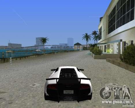Lamborghini Murcielago LP670-4 SV pour GTA Vice City sur la vue arrière gauche