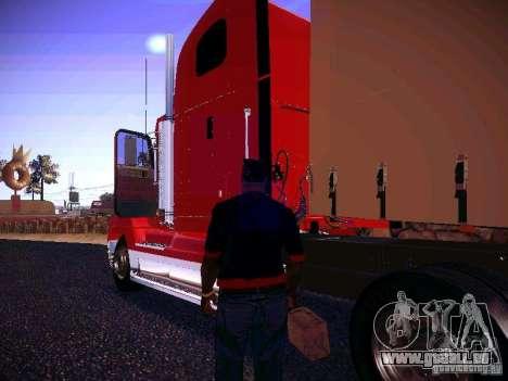Freightliner FLD 120 pour GTA San Andreas sur la vue arrière gauche