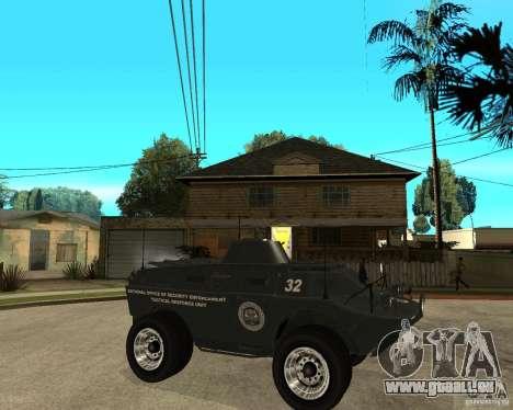 L'APC de GTA IV pour GTA San Andreas vue de droite