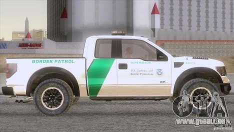 Ford Raptor pour GTA San Andreas vue de droite