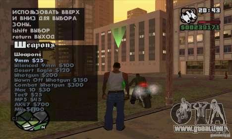 Gun Seller pour GTA San Andreas sixième écran