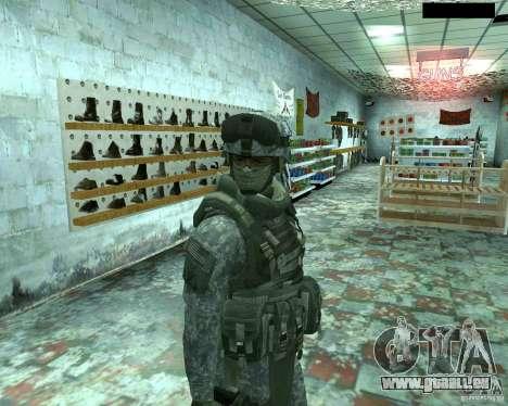 Haut Infanterist CoD MW 2 für GTA San Andreas sechsten Screenshot