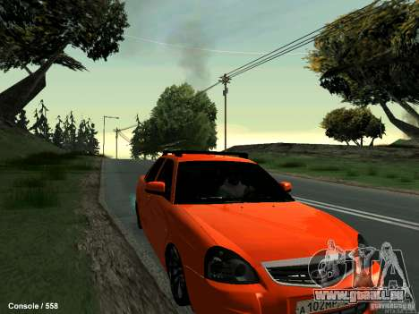 LADA 2170 102-RUS pour GTA San Andreas vue arrière