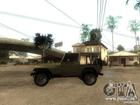 Jeep Wrangler 1986 4.0 Fury v.3.0 pour GTA San Andreas laissé vue