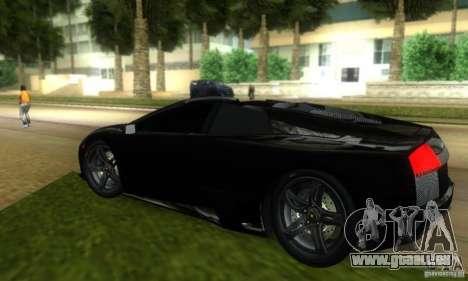 Lamborghini Murcielago LP640 Roadster pour une vue GTA Vice City de la droite