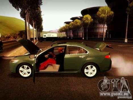 Acura TSX pour GTA San Andreas vue arrière