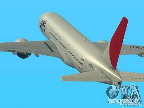 Boeing 777-200 Japan Airlines pour GTA San Andreas laissé vue