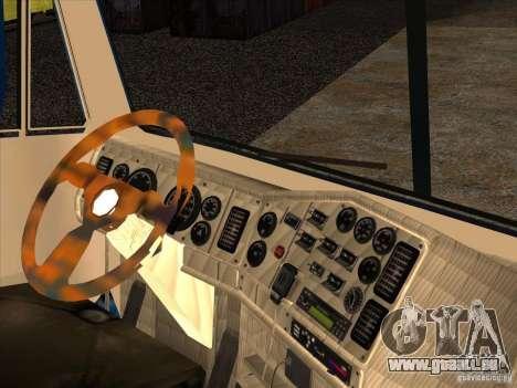 Freightliner Argosy Skin 1 pour GTA San Andreas vue intérieure
