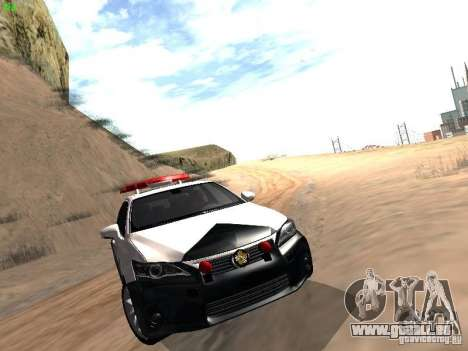 Lexus CT200H Japanese Police pour GTA San Andreas