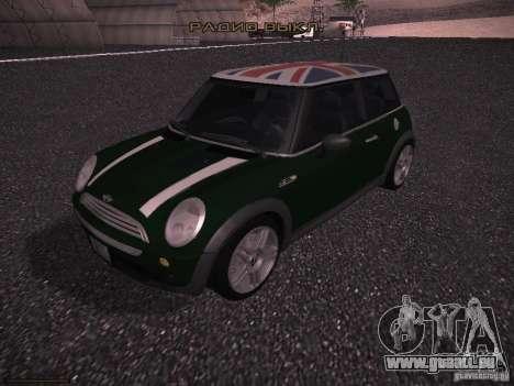Mini Cooper S für GTA San Andreas Unteransicht