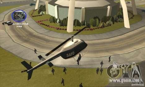 Police Maverick 2 für GTA San Andreas Rückansicht