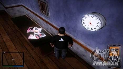 Horloge murale de travail pour GTA San Andreas troisième écran