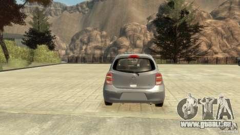Nissan Micra pour GTA 4 est une vue de l'intérieur