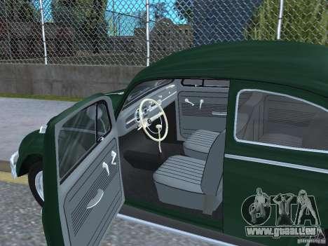 Volkswagen Beetle 1963 für GTA San Andreas Rückansicht