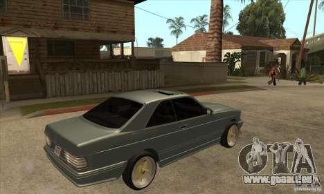 Mercedes-Benz 560 sec w126 1991 pour GTA San Andreas vue de droite