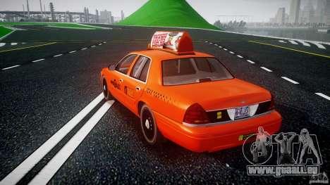 Ford Crown Victoria 2003 v.2 Taxi pour GTA 4 Vue arrière de la gauche