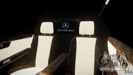 Mercedes-Benz S600 Guard Pullman 2008 für GTA 4 Innenansicht