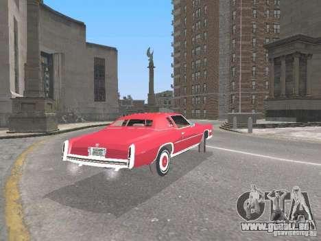 Cadillac Eldorado pour GTA San Andreas vue de droite