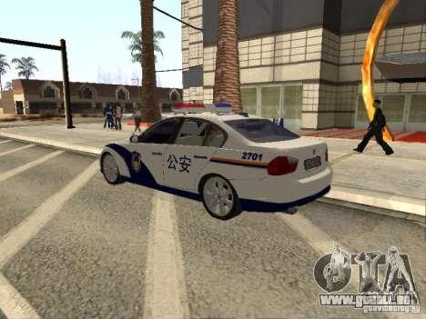 BMW 3 Series China Police pour GTA San Andreas laissé vue