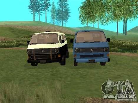 Volkswagen Transporter T3 pour GTA San Andreas vue de dessus