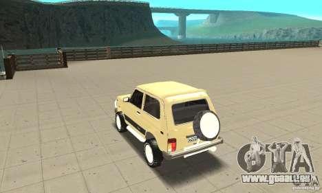 VAZ 21213 4 x 4 pour GTA San Andreas sur la vue arrière gauche