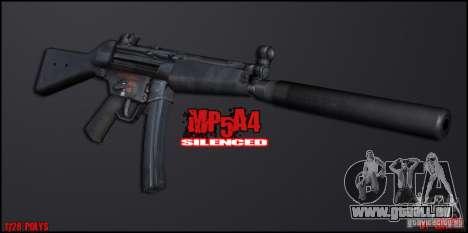 MP5A4 Silenced pour GTA San Andreas deuxième écran