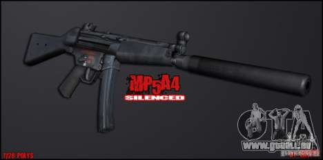 MP5A4 Silenced für GTA San Andreas zweiten Screenshot