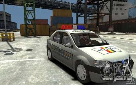 Dacia Logan Prestige Politie für GTA 4 Rückansicht