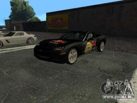 Chevrolet Corvette C6 pour GTA San Andreas vue de dessus