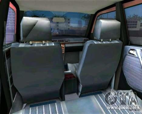 Mercedes-Benz E190 für GTA Vice City Rückansicht