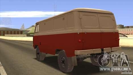 UAZ 450 für GTA San Andreas zurück linke Ansicht