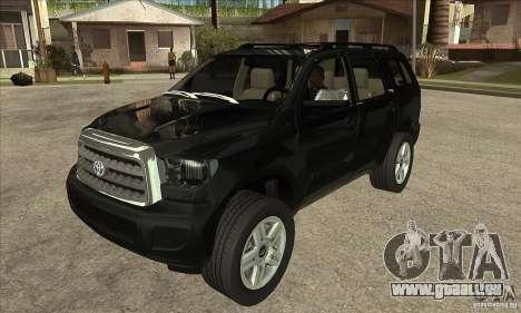 Toyota Sequoia pour GTA San Andreas vue arrière