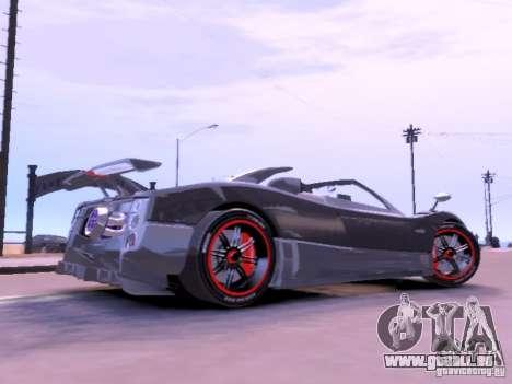 Pagani Zonda Cinque Roadster v 2.0 pour GTA 4 est une gauche